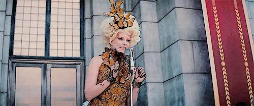 Watch and share The Hunger Games Stuff Catching Fire Effie Trinket Thgedit Cfedit Ete* GIFs on Gfycat