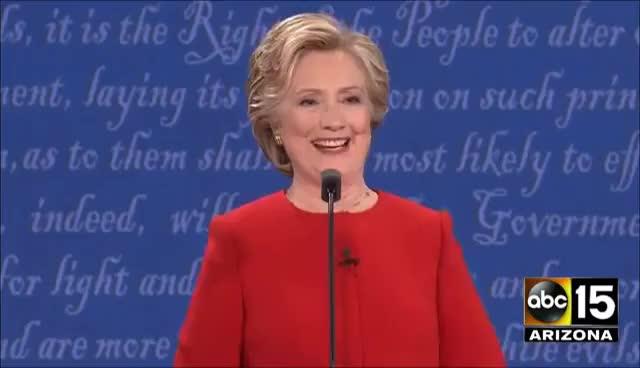 Watch and share Hillary Clinton Shimmy - Presidential Debate - Donald Trump Vs. Hillary Clinton GIFs on Gfycat