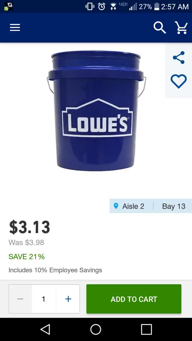 Watch and share Lowe's Bucket Employee Discount GIFs by Alt Josh on Gfycat