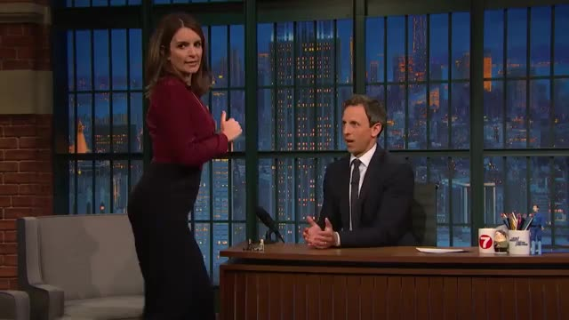 Watch and share Late Night With Seth Meyers GIFs and Tina Fey GIFs by i_dont_do_sports on Gfycat