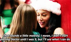 Watch and share Merry Christmas GIFs and Santana Lopez GIFs on Gfycat