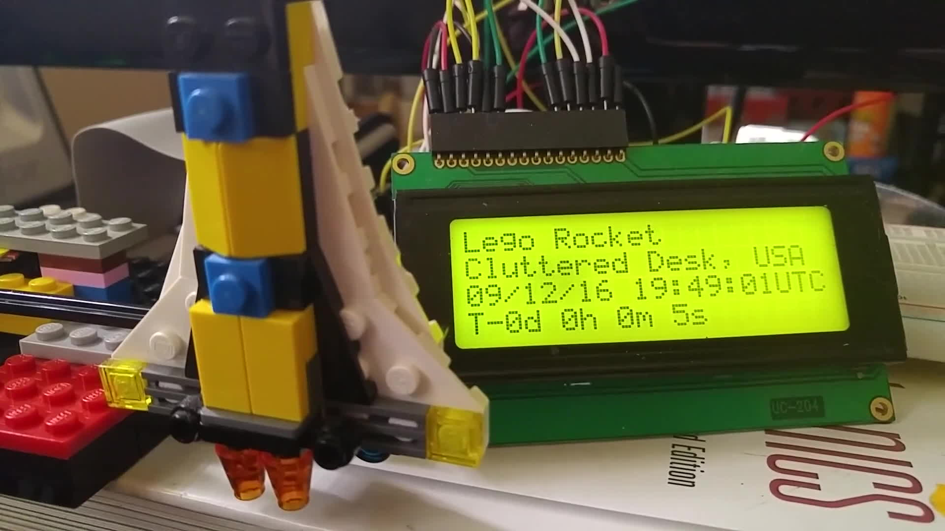 LaunchLibrary, launchlibrary, raspberry_pi, Raspberry Pi space launch countdown display + Arduino powered Lego launch alerter (x-post r/LaunchLibrary) (reddit) GIFs