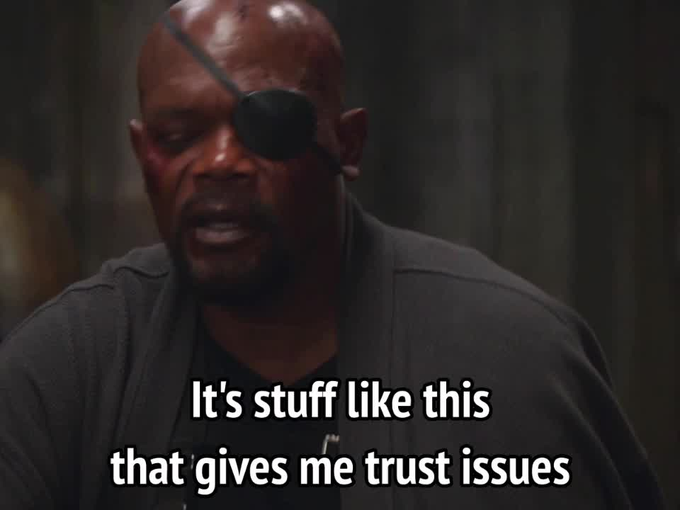 celebs, samuel l jackson, Captain America Winter Soldier - it's stuff like this that gives me trust issues GIFs