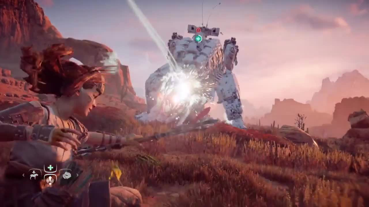 PS4Share, horizon, krispy3d, Horizon Zero Dawn: Fun Precision Thunderjaw Takedown GIFs