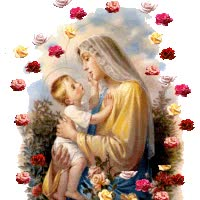 Watch and share Virgin Mary And Baby Jesus animated stickers on Gfycat