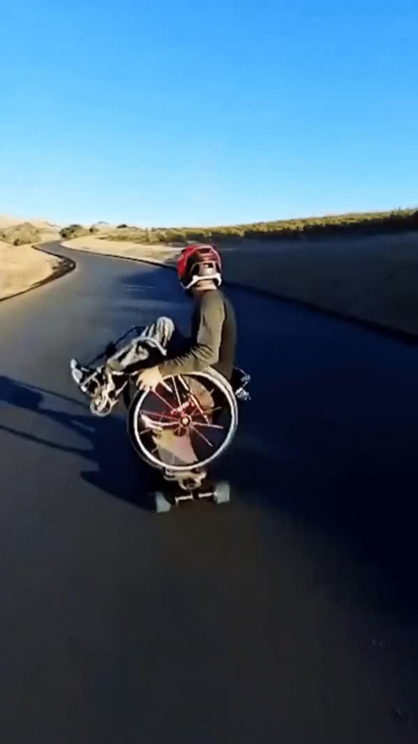 Watch and share Wheelchair Skateboarder GIFs on Gfycat