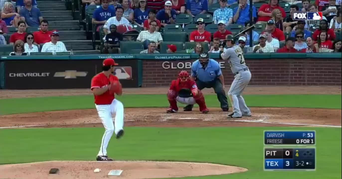 baseball, texasrangers, #5, Freese, 96 mph fastball (reddit) GIFs