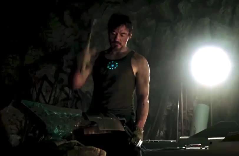 build, captain, downey, hammer, handy, hard, iron, jr, junior, mad, man, marvel, pissed, rise, robert, strong, studios, sweat, work, Marvel Studios' Captain Marvel _ _Rise GIFs