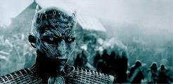 The Night's King, game of thrones, got, got edit, got gif, got meme, gotedit, gots5, jon snow, night king, q, s5, the night's king, the nights king, GAME OF THRONES MEME:one queen/ king - The Night's King.He h GIFs
