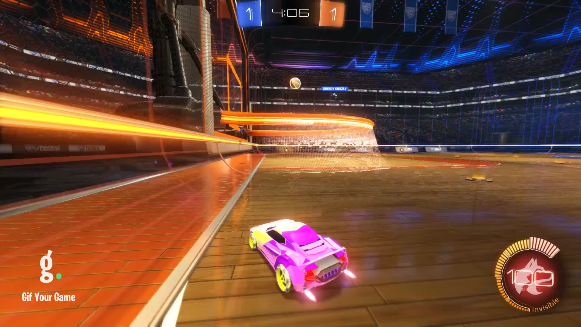 Gif Your Game, GifYourGame, Goal, Invisible, Rocket League, RocketLeague, Goal 3: Invisible GIFs