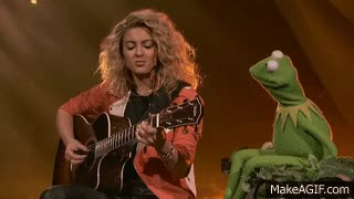 """Watch Tori Kelly and Kermit the Frog Sing """"Rainbow Connection"""" - Disneyland 60 Sneak Peek GIF on Gfycat. Discover more related GIFs on Gfycat"""