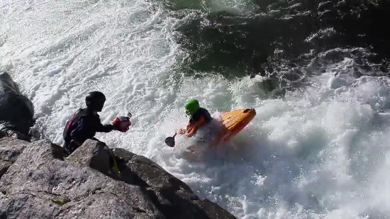 fail, kayak, whitewater, BOOF! GIFs
