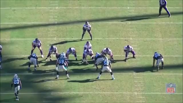 Watch and share Vikings-Panthers Keenum Elusiveness GIFs by whirledworld on Gfycat