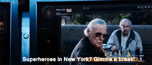 Watch and share Hogwarts Houses GIFs and Stan Lee Cameo GIFs on Gfycat