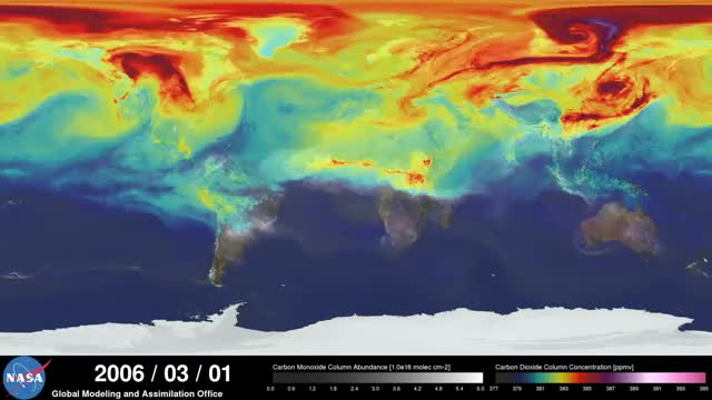Watch NASA | A Year in the Life of Earth's CO2 (reddit) GIF on Gfycat. Discover more gifs, woahdude GIFs on Gfycat