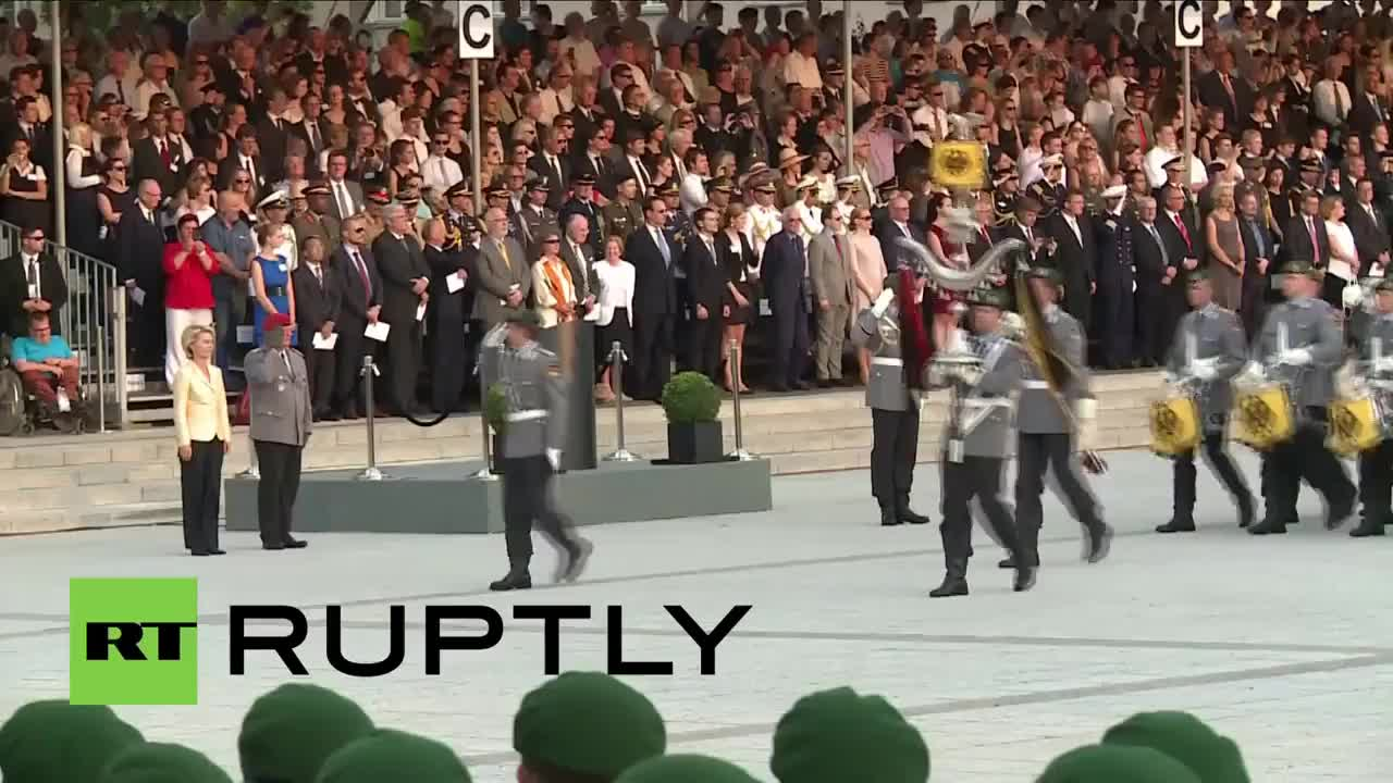 berlin, bundeswehr, germany, news, ruptly, stauffenberg, Germany: Military parade commemorates plot to kill Hitler GIFs