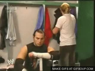 Watch and share Jeff And Matt Hardy Backstage GIFs on Gfycat