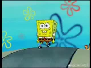 Watch and share SpongeBob Walks GIFs on Gfycat