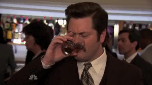 Watch ron swanson drinking GIF on Gfycat. Discover more related GIFs on Gfycat
