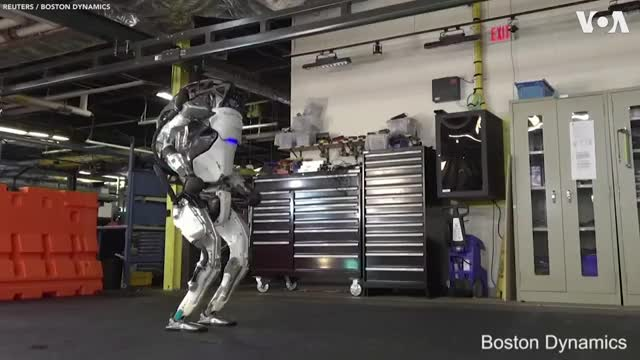 Watch and share Boston Dynamics' Humanoid Robot Shows Off Gymnastic Routine GIFs on Gfycat