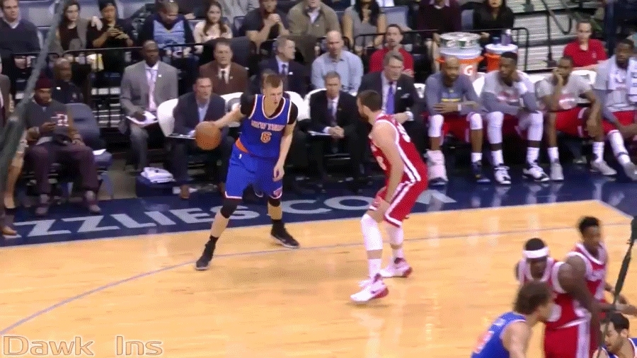 basketball, nba, Kristaps doing his best Melo impression  over Marc Gasol GIFs