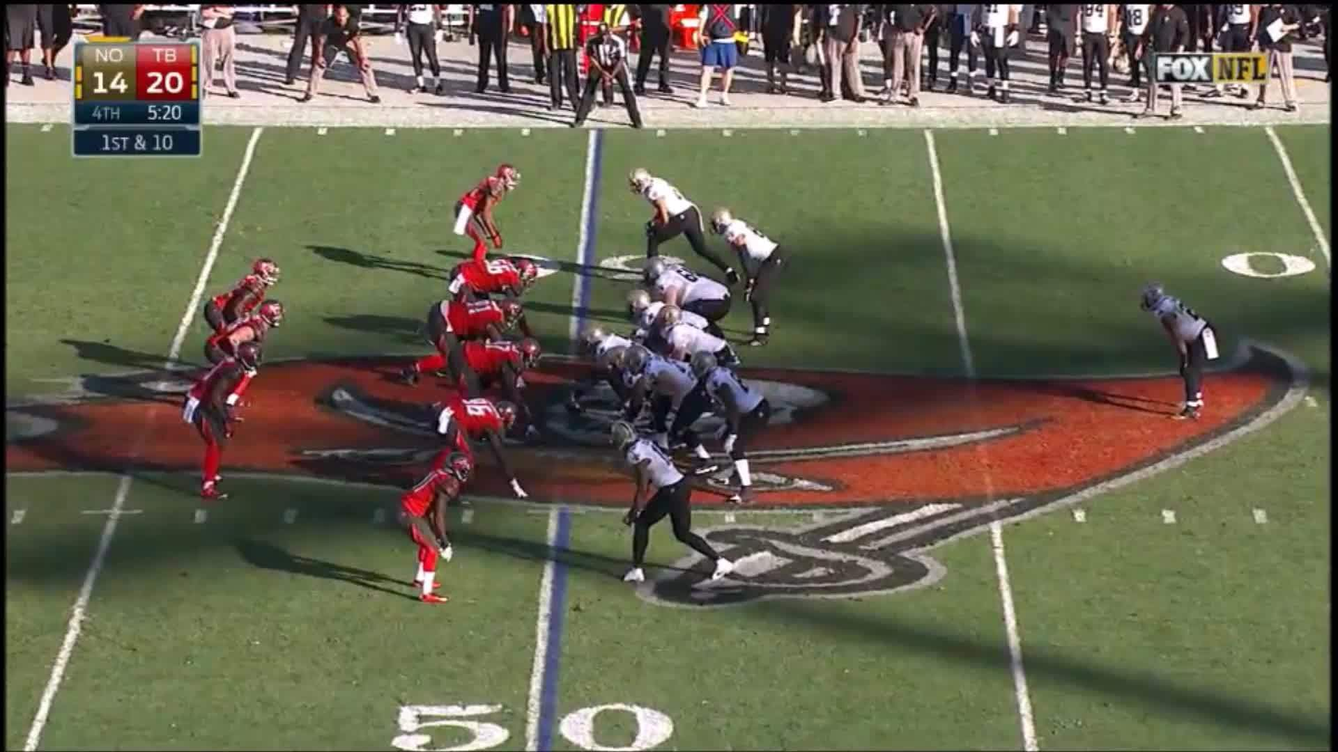 drew brees, new orleans saints, nfl, (2014) Drew Brees reception vs. Buccaneers GIFs