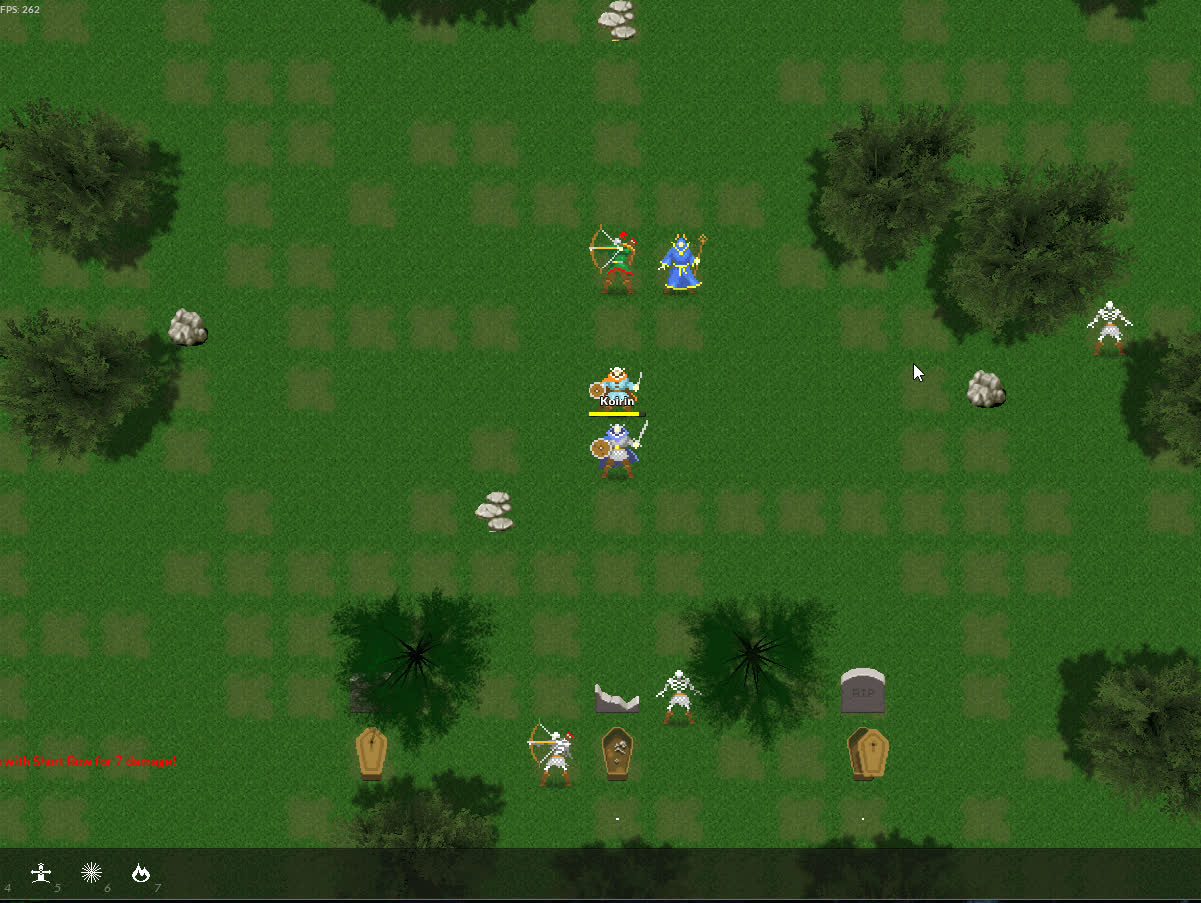 dividedkingdoms, roguelike, roguelikedev, Ability targeting GIFs