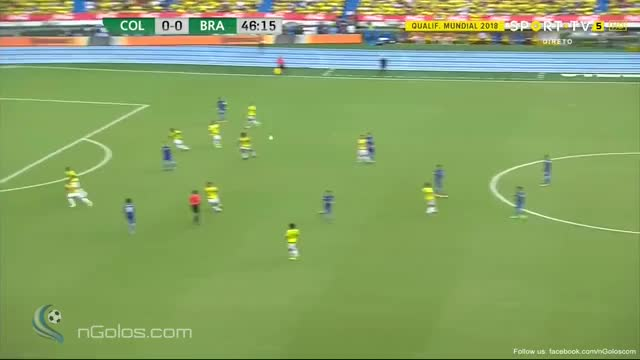 Watch and share (www.nGolos.com) Colombia 0-1 Brazil - Willian 45'+2' (WC 2018 - Qualif.) GIFs on Gfycat