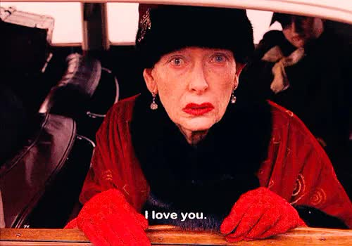 Watch this i love u GIF on Gfycat. Discover more 10s, 2010s, 2014, film, gif, i love u, i love you, love, love you, luv ya, movie, the grand budapest hotel, tilda swinton, wes anderson GIFs on Gfycat