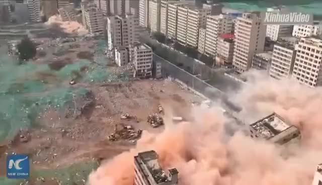 Watch 36 buildings demolished in about 20 seconds in Chinese city GIF on Gfycat. Discover more related GIFs on Gfycat