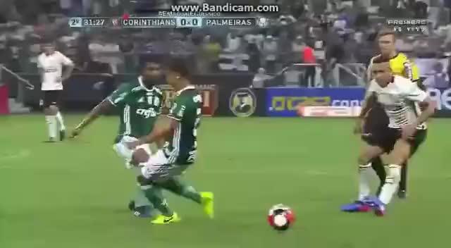 Watch and share Guilherme Arana Dar Linda Caneta Em Michel Bastos  Corinthians X  Palmeiras GIFs on Gfycat