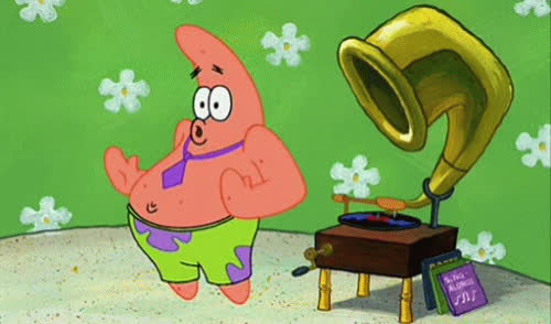 celebrate, dance, dancing, excited, happy, moves, music, patrick, spongebob, star, woohoo, Patrick's dancing GIFs