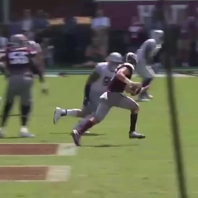 madden, mississippi state qb goes flying, MAXIMUM EFFORT 🚁 GIFs