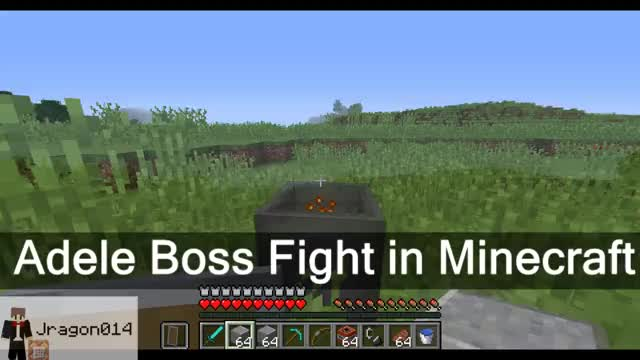 Watch Adele boss fight in Minecraft. Yes she's real. Yes you can install her into your world. [::] (reddit) GIF on Gfycat. Discover more Minecraft, minecraft GIFs on Gfycat