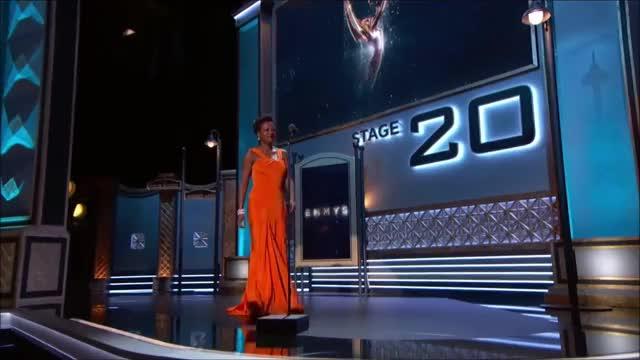Watch Viola Davis takes the stage. GIF by @tsubaki on Gfycat. Discover more EmmyAwards2017, Emmys, Emmys2017 GIFs on Gfycat