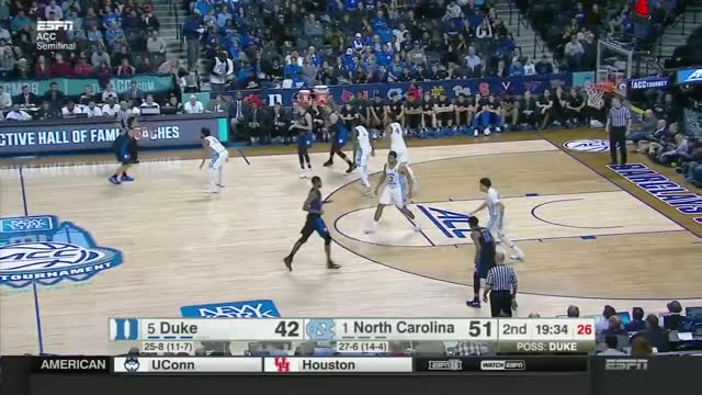 Watch and share Duke Blue Devils Vs North Carolina Tar Heels 2017 SemiFinal ACC Tournament GIFs by whitehops on Gfycat