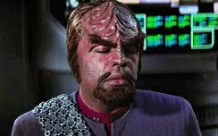 Watch and share Commander Worf GIFs on Gfycat