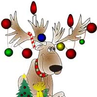 Watch and share Flashing Christmas Lights Photo: Reindeer W/Flashing Lights 9.gif GIFs on Gfycat