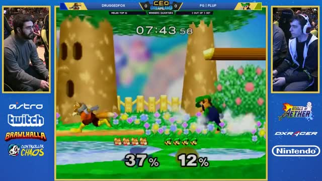 CEO Dreamland 2017 SSBM - PG | Plup (Luigi) Vs. DruggedFox (Fox) Smash Melee Winners Quarters