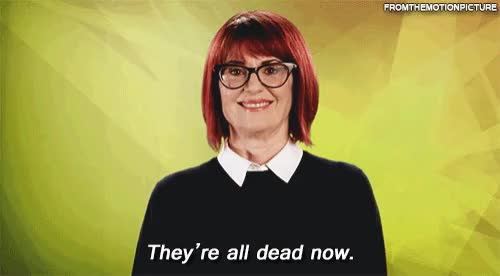 Watch and share Megan Mullally GIFs and Dead GIFs on Gfycat