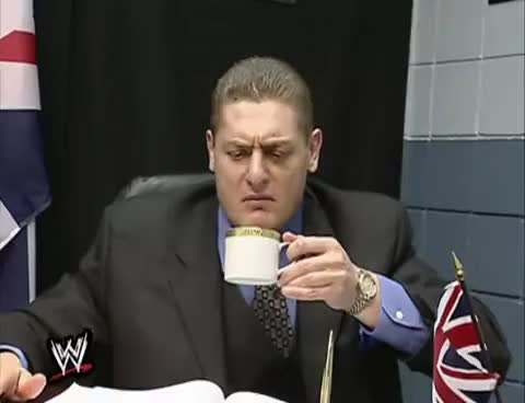 Watch and share Side Splitters: William Regal And His Tea GIFs on Gfycat