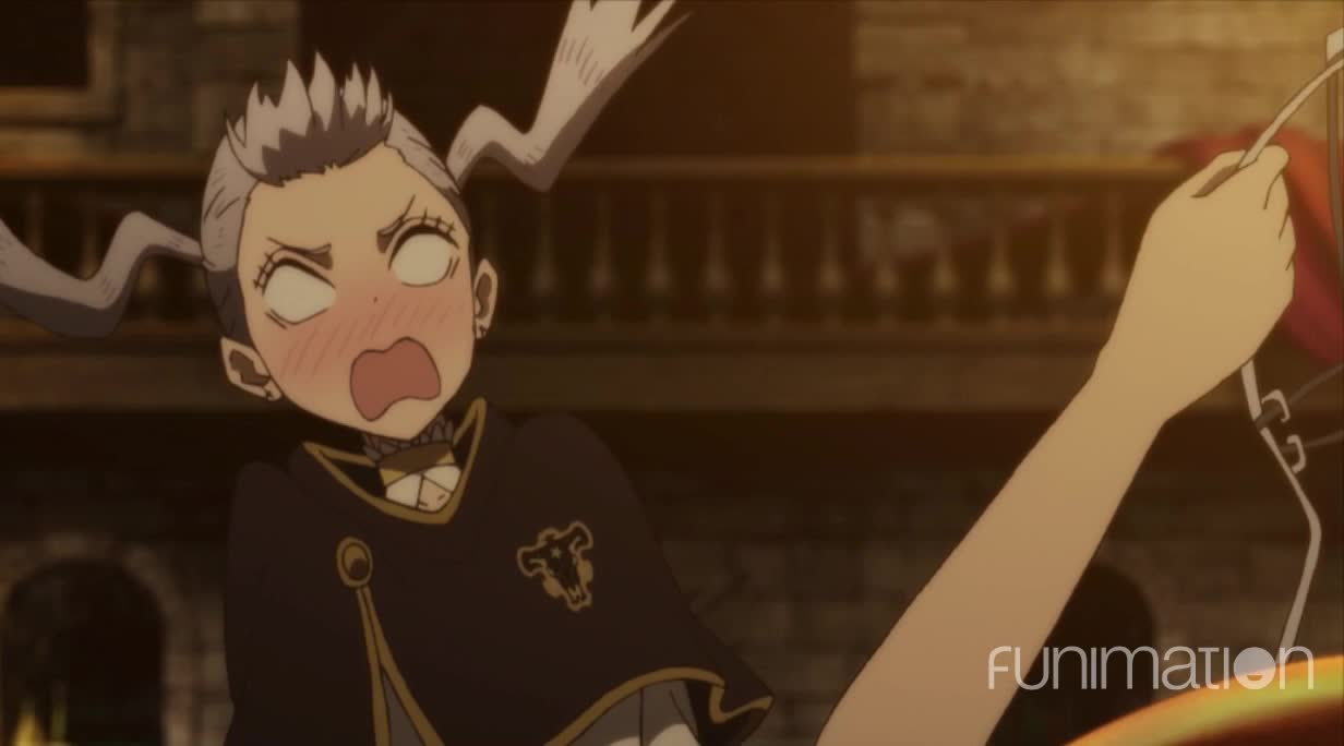 action, anime, black clover, black clover episode 39, funimation, Bathing floss, i mean suit GIFs