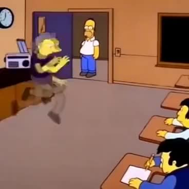 Watch and share The Simpsons Funk Dancing For Self Defence Moe Szyslak GIFs on Gfycat