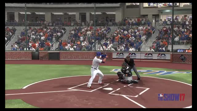 Watch and share Asdrubal Cabrera Doesn't Let Go Of Bat MLB The Show 17 GIFs on Gfycat