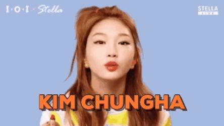 #kpop, #produce101, KIM CHUNGHA GIFs