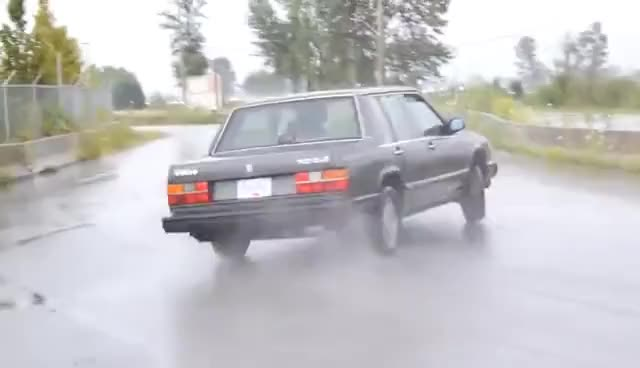 Watch and share STOCK VOLVO 740 WALLTAP DRIFT GIFs on Gfycat