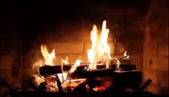Watch and share Burning Fireplace With Crackling Fire Sounds (Full HD) GIFs on Gfycat