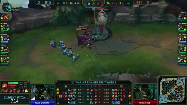 Watch and share Dignitas Vs Immortals - Game 1 S7 NA LCS Summer 2017 Week 8 Day 2 - DIG Vs IMT G1 W8D2 GIFs on Gfycat