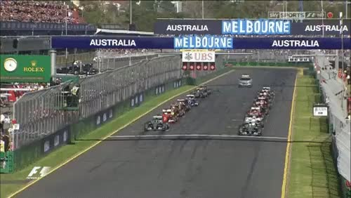 Watch and share 2015 Australia Grand Prix Start (xpost /r/F1GIFS) - Thanks Cubejam ! (reddit) GIFs by cubejam on Gfycat