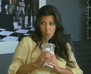 Kourtney Kardashian, bored, dgaf, sip, starbucks, tea, unimpressed, Kourtney Kardashian Sipping the Tea GIFs